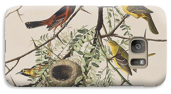 Orchard Oriole Galaxy S7 Case by John James Audubon