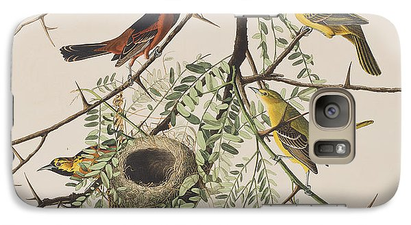 Orchard Oriole Galaxy S7 Case by John James Audubon
