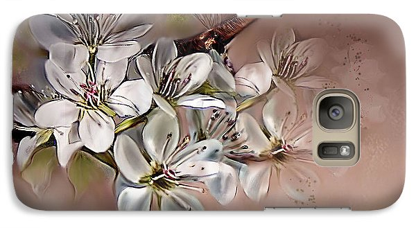 Galaxy Case featuring the painting Oriental Pear Blossom by Bonnie Willis