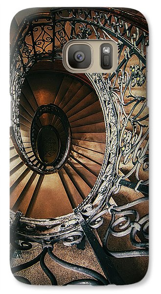 Galaxy Case featuring the photograph Ornamented Spiral Staircase by Jaroslaw Blaminsky