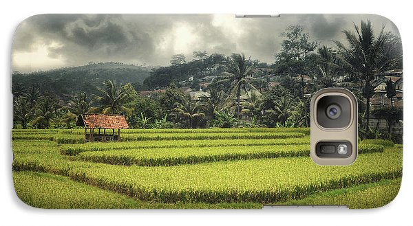 Galaxy Case featuring the photograph Paddy Field by Charuhas Images