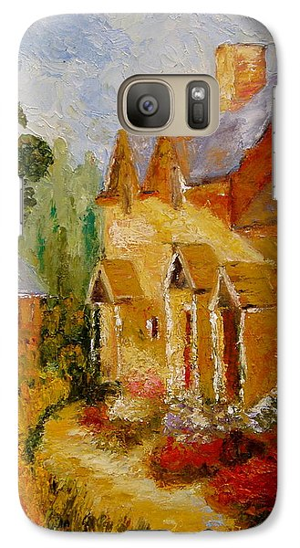 Galaxy Case featuring the painting Pathway Home by Marie Hamby