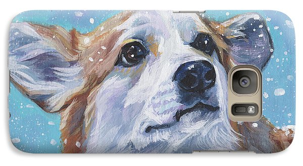 Galaxy Case featuring the painting Pembroke Welsh Corgi by Lee Ann Shepard