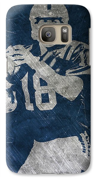 Peyton Manning Colts Galaxy S7 Case by Joe Hamilton