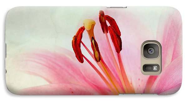 Lily Galaxy S7 Case - Pink Lily by Nailia Schwarz