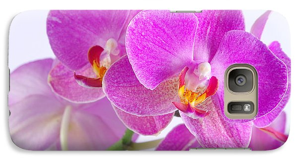 Galaxy Case featuring the photograph Pink Orchid by Dariusz Gudowicz