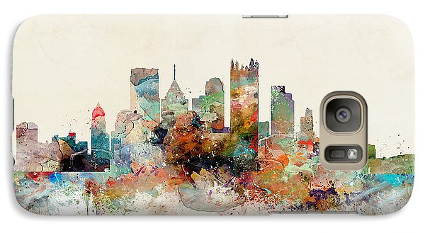 Galaxy Case featuring the painting Pittsburgh Pennsylvania Skyline by Bri B