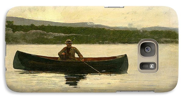 Galaxy Case featuring the painting Playing A Fish by Winslow Homer