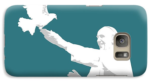 Pope Francis Galaxy Case by Greg Joens