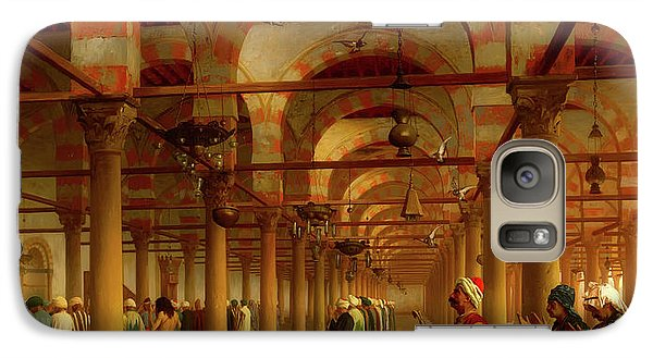 Galaxy Case featuring the painting Prayer In The Mosque by Jean-Leon Gerome