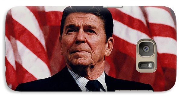 Politicians Galaxy S7 Case - President Ronald Reagan by War Is Hell Store
