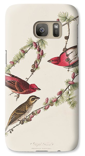 Purple Finch Galaxy S7 Case by John James Audubon