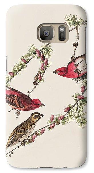 Purple Finch Galaxy S7 Case by John James Audubon