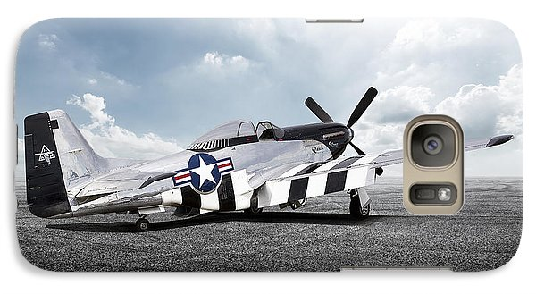 Galaxy Case featuring the digital art Quick Silver P-51 by Peter Chilelli