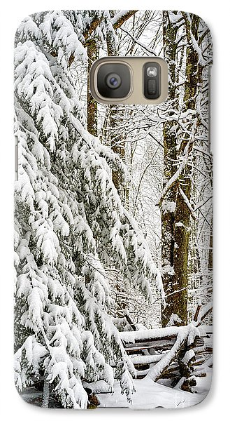 Galaxy Case featuring the photograph Rail Fence And Snow by Thomas R Fletcher
