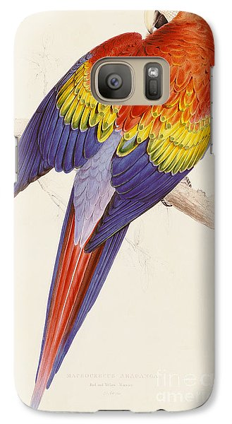 Red And Yellow Macaw Galaxy S7 Case