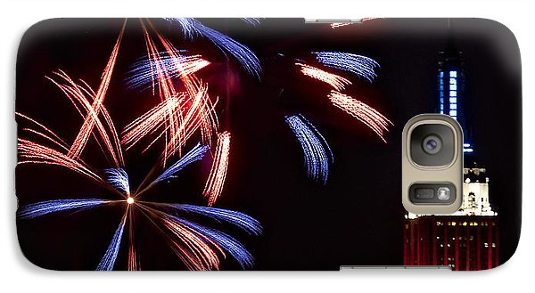 Red White And Blue Galaxy Case by Susan Candelario