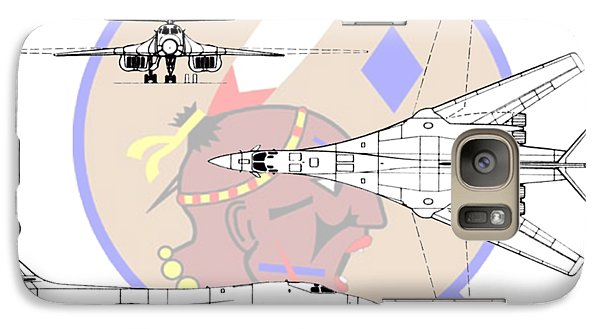 Galaxy Case featuring the digital art Rockwell B-1b Lancer by Arthur Eggers