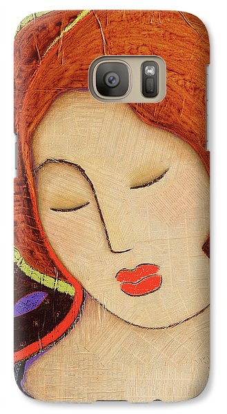 Galaxy Case featuring the painting Soul Memory by Gloria Rothrock