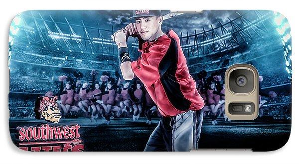 Galaxy Case featuring the digital art Southwest Aztecs Baseball Organization by Nicholas Grunas