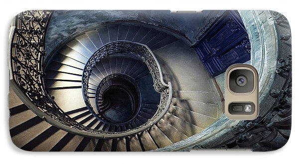 Galaxy Case featuring the photograph Spiral Staircase With Ornamented Handrail by Jaroslaw Blaminsky