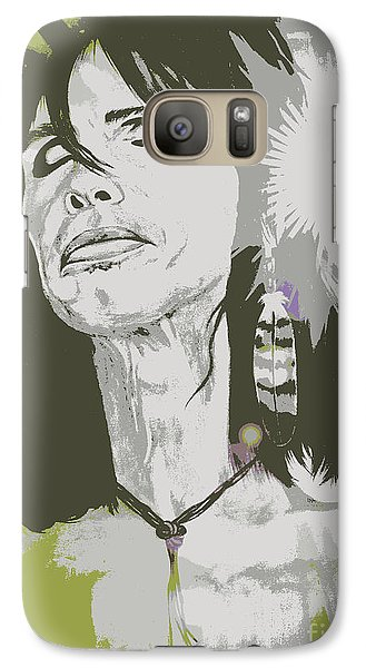 Galaxy Case featuring the painting Steven Tyler  by Jeepee Aero