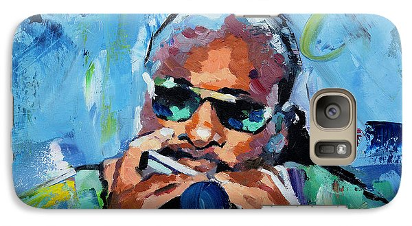 Galaxy Case featuring the painting Stevie Wonder by Richard Day