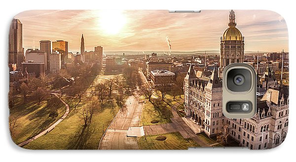 Galaxy Case featuring the photograph Sunrise In Hartford Connecticut by Petr Hejl