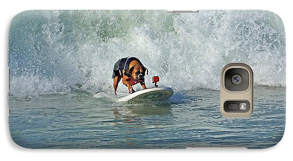 Galaxy Case featuring the photograph Surfing Dog by Thanh Thuy Nguyen
