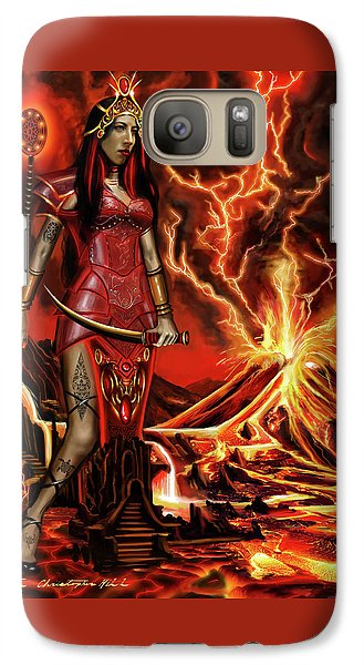Galaxy Case featuring the painting The Goodess Pele Of Hawaii by James Christopher Hill