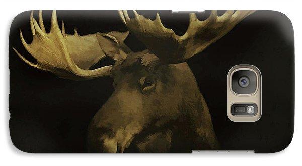 Galaxy Case featuring the digital art The Moose by Ernie Echols