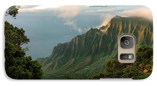 Galaxy Case featuring the photograph Napali Coast Sunset by Stephen  Vecchiotti
