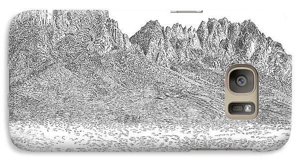 Galaxy Case featuring the painting The Organ Mountains by Jack Pumphrey