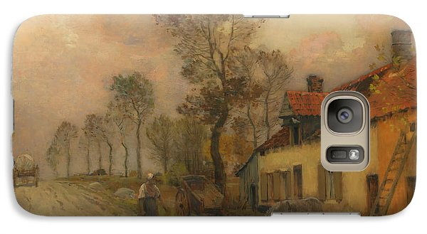 Galaxy Case featuring the painting The Route Nationale At Samer by Jean-Charles Cazin