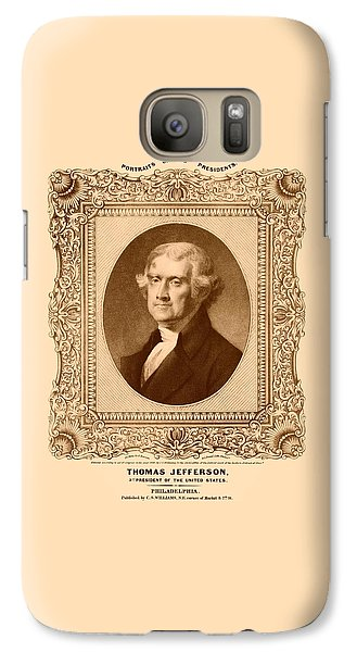 Thomas Jefferson Galaxy S7 Case by War Is Hell Store