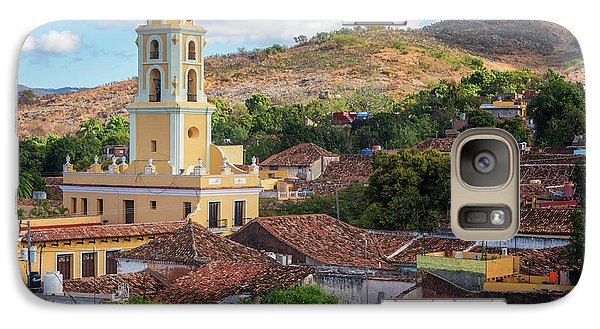 Galaxy Case featuring the photograph Trinidad Cuba Cityscape II by Joan Carroll