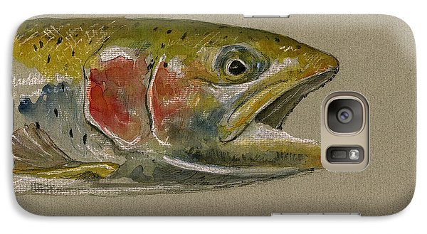Trout Galaxy S7 Case - Trout Watercolor Painting by Juan  Bosco