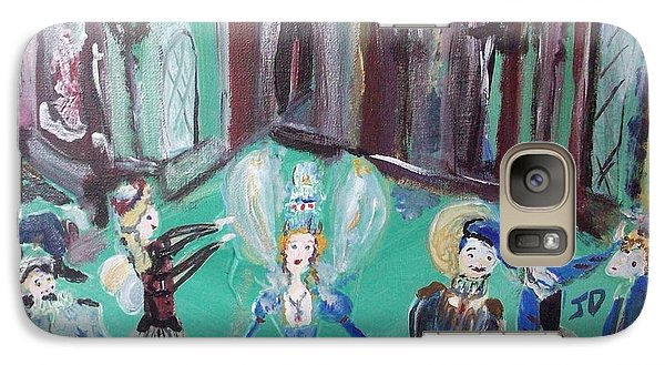 Galaxy Case featuring the painting Tudor Fairies by Judith Desrosiers
