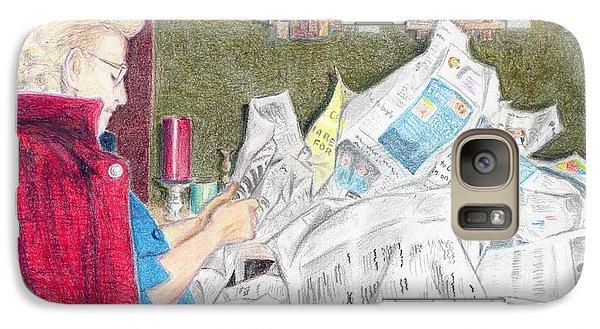 Galaxy Case featuring the drawing Unwrap by Yoshiko Mishina