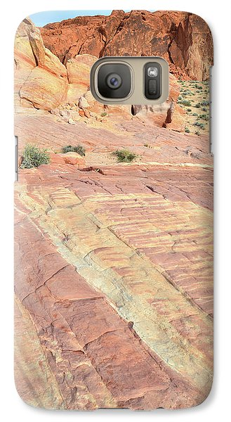 Galaxy Case featuring the photograph Valley Of Fire Rainbow by Ray Mathis