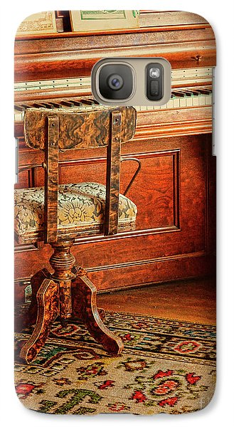 Galaxy Case featuring the photograph Vintage Piano by Jill Battaglia