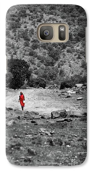 Galaxy Case featuring the photograph Walk  by Charuhas Images