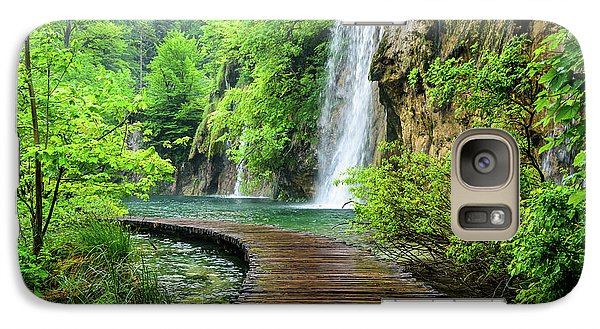 Walking Through Waterfalls - Plitvice Lakes National Park, Croatia Galaxy S7 Case
