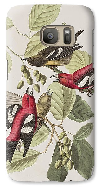 White-winged Crossbill Galaxy Case by John James Audubon