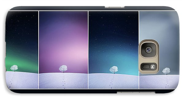 Galaxy Case featuring the photograph Winter Tree by Bess Hamiti