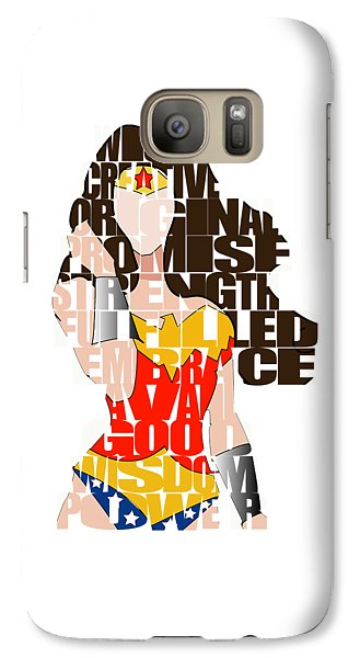 Wonder Woman Inspirational Power And Strength Through Words Galaxy S7 Case