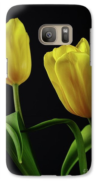 Galaxy Case featuring the photograph Yellow Tulips by Dariusz Gudowicz