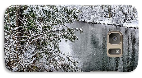Galaxy Case featuring the photograph Winter Along Cranberry River by Thomas R Fletcher