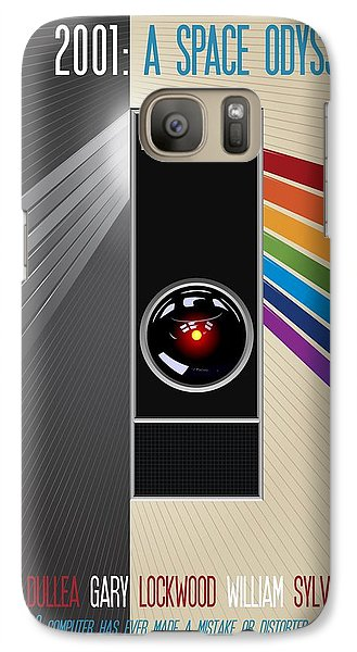 2001 A Space Odyssey Poster Print - No 9000 Computer Has Ever Made A Mistake Galaxy S7 Case
