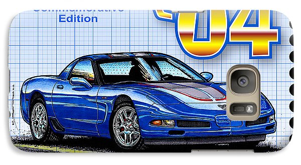 Galaxy Case featuring the drawing 2004 Commemorative Edition Corvette by K Scott Teeters